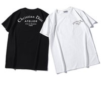 yeni alfabe toptan satış-İtalyan Klasik Tasarım kanye west Kısa Di Kollu Yeni Tasarım En çok satan Moda Alfabe Baskılı Çift Rahat T-shirt vermek