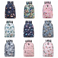 Wholesale free school book bags for sale - Group buy Unicorn Printing Backpack Women Waterproof kawaii Blue Book Bags Laptop Bagpack School Bag for Teenage Girls Mochila