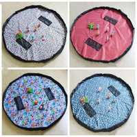 Wholesale rug bags for sale - Group buy Toy Quick Storage Bag cm Colors Portable Kids Large Capacity Drawstring Pouch Play Mat Blanket Rug Organizer Bag CFYZ133Q