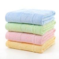 toalhas de banho de bambu macio venda por atacado-Fibra de bambu carvão de bambu Jacquard Plain 70 * 140 centímetros toalha de banho grande toalha Super absorvente macio de alta qualidade Bath