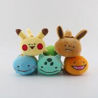 ingrosso chiave rana-Nuovo Pikachu Ibu Piccolo fuoco Drago Semi di rana Jenny Tartaruga Portachiavi Pokemon Portachiavi Giocattoli di peluche Animali di peluche Pikachu Le migliori ragazze per bambini