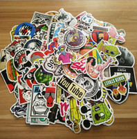 Wholesale hot new guitars resale online - 12 type hot Pack New Car Stickers Skateboard Guitar Travel Case bicycle motorcycle sticker Car decal individuality fashion sticker