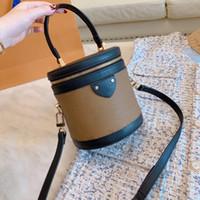 Wholesale box leather handles resale online - Classic Presbyopic package designer luxury handbags purses Makeup box modeling crossbody bucket bag Top handle and detachable shoulder strap