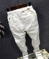 Wholesale baby jeans fashion for sale - Group buy Children Broken Hole Pants Trousers Baby Boys Jeans Brand Fashion Autumn Y white Kids Trousers Children Clothing AQ811