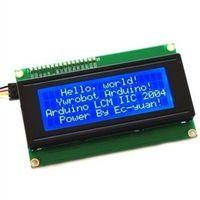 módulos arduino i2c al por mayor-Pantalla azul IIC I2C TWI Serial LCD1602A para Arduino New TYA