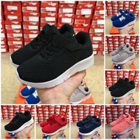 Wholesale adult gym shoes for sale - Group buy kids London TANJUN White Red Black boys girls Running Shoes children Adult Lightweight Sport Sneakers baby birthday gift
