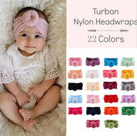Wholesale nylon headband toddlers for sale - Group buy 22 Colors Turban Nylon Headbands Super Soft Knot Headband Baby Turban Headwraps Toddler Hair Accessory PhotoProp CCA10829