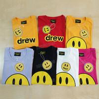 Drew House T Shirt Abbigliamento Moda Unisex Tshirt Uomo//Donna Manica Corta Tee Justin Bieber Tshirt Hip Hop Style Vestiti