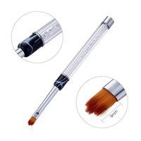 escovas de unhas usadas venda por atacado-1 pc 8 estilos nail art linha de pintura gel escovas, ferramenta de manicure, uso para desenho de linha de pétala de flor, claro