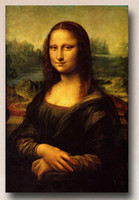 Famous Wall Art Prints Oil Reproduction Painting on Canvas Mona Lisa by Leonardo Da Vinci Painting for Office Study Room Hotel Room Decor