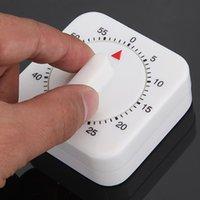 neue küchentimer großhandel-Tragbare 60 Minuten Küchenuhr Count Down Alarm Erinnerung White Square Mechanische Timer Start Backen-Werkzeuge Drop Shipping NEU