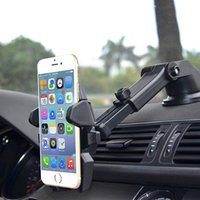 сотовый телефон держателя чашки оптовых-Universal Car Phone Holder Gps Accessories Suction Cup Auto Dashboard Windshield Mobile Cell Phone Retractable Mount Stand