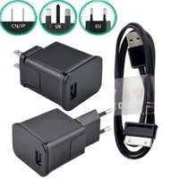 Wholesale adapter for galaxy tab for sale – best Eu US UK AC Home Travel Wall Charger Power Adapter Usb Cable For Samsung P1000 Galaxy Tab Note Android phone