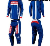 Wholesale mx clothes for sale - for yamaha Motocross Jersey And Pant Combos ATV BMX DH MX Moto Suit Dirt Bike Combo Cycling Motorcycle Clothes Set
