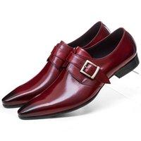 tan formale schuhe großhandel-Große Größe EUR45 Braun Tan / Schwarz Business Schuhe Herren Kleid Schuhe Echtes Leder Formal Hochzeiten Schuhe