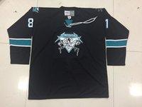 hockey jerseys оптовых-Настройка Metallica San Jose Sharks Джеймс Хетфилд хоккей Джерси вышивка сшитые настроить любое число и имя