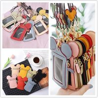 Wholesale wallets shoulder straps resale online - Happy Dream Coin Slot Bag with Lanyard Neck Strap Cartoon Ear Credit ID Card Pocket Mini Handbag Card Holder Coin Bags Wallet Pouches A52201
