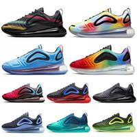 мужская спортивная обувь оптовых-Nike Air Max 720 720s Кроссовки для Мужчин Женщин Тройной Черно Белое Море Лес Углеродный Серый Total Eclipse 72C Спортивные Спортивные Кроссовки 36-45