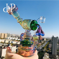 14 robot al por mayor-Plus Glass Bong Dab Rig Pipa de agua 503PFG Cute Robot Fumed Pipe Pipe 6.3