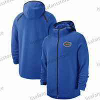 black college hoodies 2021 - Florida Gators Sweatshirts tops On-Court Basketball Player Showtime Sideline Performance Full-Zip Hoodies Mens College Sports Jackets