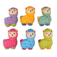 nuevo día rosa al por mayor-Squishy new Colorful sheep Suave Crecimiento lento Elástico Squeeze Juguetes para niños Aliviar el estrés Chuchería Regalos para el día de los niños