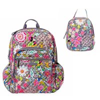 Wholesale women lunch bags resale online - Large Campus Backpack With Lunch Bag in Friends Prints Cartoon Character Backpack with Lunch Bag For Christmas Miky Backpack
