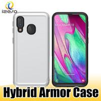 Wholesale alcatel white phone online – custom For MOTO G7 Play G6 Samsung S10 G S10 Plus Alcatel U5 Plus Rugged Design Phone Back in Cover Shell izeso