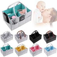 Wholesale baby wipes diapers resale online - Felt Baby Diaper Bag Felt Nappy Storage Basket Mommy Handbags Baby Nursery Wipes Tote Travel Organizer Newborn Car Portable Bags GGA3119
