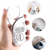 Wholesale body fat analyzer resale online - Body Fat Caliper Tester Scales Fitness Monitors Analyzer Digital Skinfold Slimming Measuring instruments Electronic Fat Measure