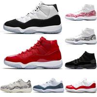 tapas de aire rojo al por mayor-nike air jordan retro 11 michael jordan jumpman 23 zapatos de baloncesto para hombre 11s Concord 45 snakeskin 11 Gorra roja de Space Jam zapatillas deportivas para mujer