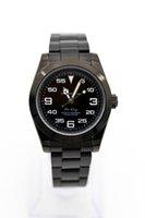 pulseras arabes al por mayor-Venta caliente de lujo para hombre de los números del reloj Movimiento automático de acero inoxidable Bisel árabes 44mm placa de dial negro Pulsera de acero reloj de pulsera