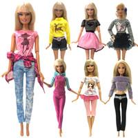 ingrosso barbie girl dresses-NK 2019 Più nuovi vestiti per le bambole Fashion Dress Usage quotidiano Gonna Party Gown per Barbie Doll Accessori Girl Best Gift 0JJ