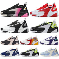 lila basketball-turnschuhe für männer großhandel-Nike Zoom 2K Classic M2k Tekno Zoom 2K Herren Damen Laufschuhe Weiß Schwarz Lila Royal Blue Damen Triple Black Sport Sneakers Herren Trainer 36-45