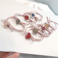 schmetterlingsseil großhandel-Neue Karikatur-nette Haar-Ring-doppelte Schicht geknoteter Schmetterlings-Knoten, der Lächeln-Gesichts-hohe Elastizität-Hauptseil-Mädchen liebt