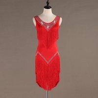robes de danse latine pour les femmes achat en gros de-paillettes gland robe latine costumes de salsa robe de tango vêtements de danse danse latine femmes costume samba costume vêtements pour danser