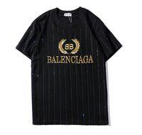 Wholesale tshirt custom printing for sale - Group buy 19balenciaga mens luxury tshirt Paris fashion brand designer t shirt street pop BB private custom high end t shirt black white hot shirt