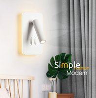 12v wandschalter großhandel-Neue Ankunft LED Wandleuchte Mit Doppelschalter Für Schlafzimmer Leselampe Nachtlicht Wandleuchte Scheinwerfer