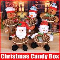 großer lippenstift großhandel-Weihnachtsschmuck Korb 5 Styles Weihnachten Obstkorb Große Geschenkbox Süßigkeit Biscuits Basket-Verfassungs-kosmetische Lippenstift Organizer