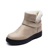 Wholesale footwear for women for sale - Group buy Plush Snow Boots Female Winter Boots Women Booties Flat Warm Ankle For Women Winter Shoes Woman Plus Size Footwear