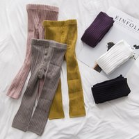 Wholesale calf high socks for sale - Group buy 6 Styles Boy Girls Leggings Stockings Girls Tights Double Needles Ninth Pants High Waist Warm Pure Cotton Bottom Socks and Pants T M700