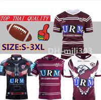 águias jersey venda por atacado-19 20 Mais Novo Manly Sea Eagles Início Jersey tailândia qualidade Nacional de Rugby League MANLY MAR E ÁGUIAS camisa de rugby Jerseys Jersey S-3XL