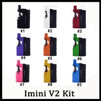 ingrosso v2 e batterie per sigarette-Original Imini V2 Starter Kit Vape Mods Batteria 650mAh Per 0.5 ML 1.0 ML Cartucce Olio Spessore Vaporizzatore E Sigaretta Vape Pen 0268100