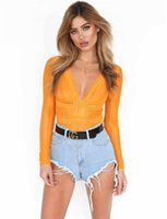 15d3cc578b Sexy Lace Jumpsuit Top Chiffon Long Sleeve V Neck Tops Rompers Women See  Through Skinny Blouses Fashion Wear