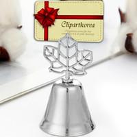 ingrosso favole di partito di campane-4 disegni titolare di foto tessera campana con cuore foglia d'acero baby shower bomboniere regalo di nozze decorazione della tavola