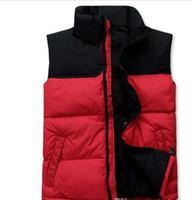 o hoodie para baixo veste o revestimento venda por atacado-2019 Homens Top Quality baixo Hoodies NORTH Jackets Camping windproof Ski quente para baixo casaco colete exterior Casual ROSTO com capuz Sportswear 066