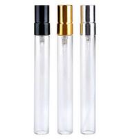 muestras de frascos de perfume gratis al por mayor-200 unids 10 ml Botella de perfume de vidrio Botella de aerosol recilable vacía Pequeño Parfume Atomizador Perfume Muestra Viales botella de vidrio de prueba Envío gratis
