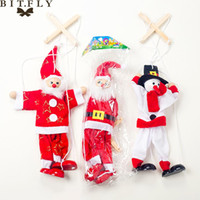 Wholesale santa claus plush doll for sale - Group buy 1pcs Christmas Decoration Santa Claus Snowman Plush Doll Hanging Pendant Ornament For Christmas Tree New Year Home Party Supply