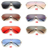 männer metallrahmen brillen groihandel-2019 Marke Beliebte Designer Sonnenbrillen großer Rahmen Sonnenbrillen für Frauen Männer Classic Metal One-Piece-Objektiv Vintage-Sonnenbrillen Brillen Schatten