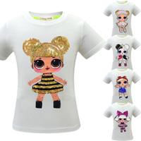 горячие девушки t рубашки оптовых-5 стили девочки сюрприз футболки хлопок хип-хоп смешно летняя рубашка горячая мультфильм косплей одежда домашняя одежда CCA11482 12 шт.