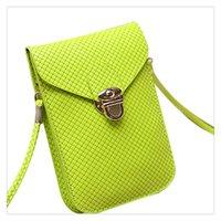 kaliteli dokuma toptan satış-Cep Telefonu Çantaları kadın Moda Dokuma Çanta Satchel Mini PU Deri Çanta Küçük Crossbody Kaliteli